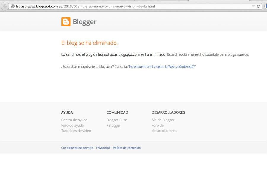 Blog eliminado