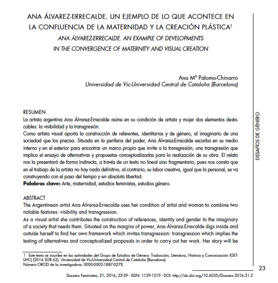 Ana Palomo essay
